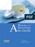Nobility of Sayyiduna Abu Darda