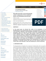 Phenylpropanoids as the Biologically Active Compounds of the Medicinal Plants and Phytopharmaceutica