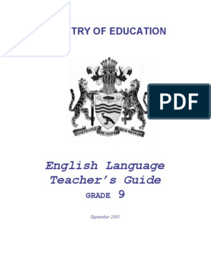 Grade 9 - English Teacher's Guide | Learning | Curriculum