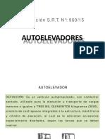 Resolución SRT Nº 960-15 Autoelevadores