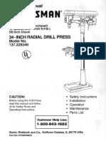 Sears Radial Drill Press 137.229340