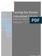 End User Share Point The Calculated Column Session 02 eBook