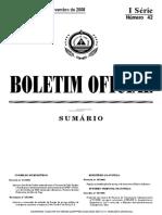 Classificações de Serviço e Louvores PJ - B. O. n.º 42, I Série de 17 Novembro de 2008