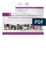 Perfil, Parámetros e Indicadores Para Docentes y Técnicos Docentes