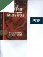 Richard Thorpe_The Field Description of Igneous Rocks