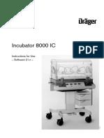 Dräger Incubator 8000 IC - User Manual