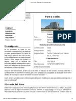 Faro a Colón - Wikipedia, La Enciclopedia Libre