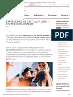 Expresiones de Castilla y León - EP279 Learn Spanish - Spanish Podcast