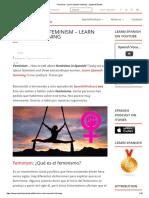 Feminism - Learn Spanish Listening - SpanishPodcast