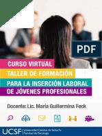 Brochure Curso Virtual Incercion Laboral