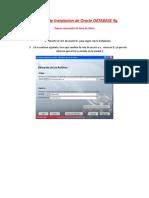 Informe de Instalacion Oracle