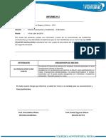 Informe Académico 1er Grado Sec II B - Tarde