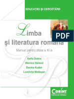 Manual Limb Ași Literatura Română Clasa a XI-A Corint