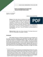 A revisão colaborativa de textos em aulas on-line e face-a-face