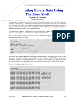 Manipulating Binary Data Using the Korn Shell