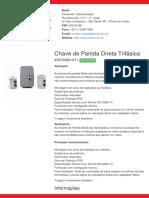 Chave de Partida Direta Trifásica - SDT09M1DT1