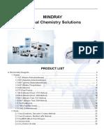 Biochemistry Handbook for Mindray