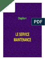 Chapitre 4 Service Maintenance