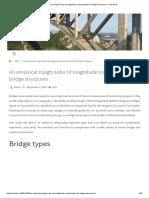 Costo de Puentes en Base a Luz