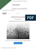 Depressão_ Doença Da Vontade _ Biblioteca Virtual Da Antroposofia