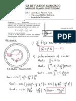 Resolucion de Examen Mecanica Fluidos