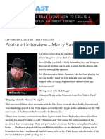 Featured Interview – Marty Sammon – Blues Blast Magazine