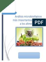 Análisis Microbiológicos Más Importantes Realizadas a Los Alimentos