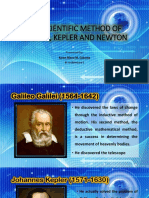 The Scientific Method of Galileo, Kepler And