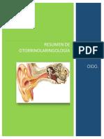 Resumen Otorrinolaringología
