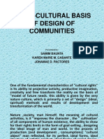 Socio-cultural Basis of Design of Communities