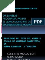 Resultado Del Test Del Cmasr-2 Primaria.