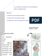 Changing pattern of landuse in south-western costal region of bangladesh