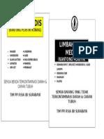 Stiker Limbah Non Medis