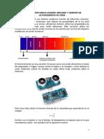 Medida de Distancia Usando Arduino y Sensor de Ultrasonidos Hc