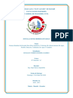 Normas Obras Sanitarias y Abastecimiento de Agua