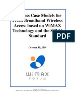 Business Case Models for Fixed Broadband Wireless Access Based on Wimax Technology and the 802.16 Standard