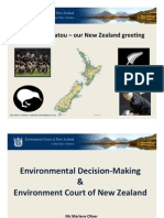 Marlene Oliver - Environmental Decision-Making & Environment Court of New Zealand