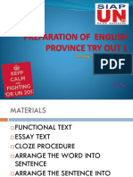 Preparation of English Province Try Out 1