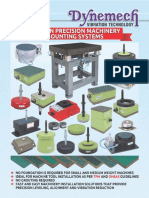 Dynemech Catalogue- Comprehensive Precision Machinery Mounting Systems