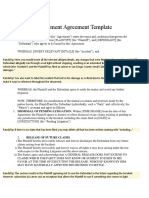 Compromise Agreeement Template