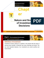 Chapter 01 Nature and Scope of Investment Decisions