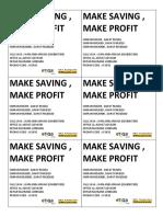 Make Saving Make Profit