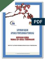 Laporan Analisa Borang Kepuasan Kerja Warga ILP Kuala Terengganu 2017