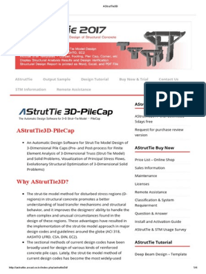 AStrutTie3D pdf | Stress (Mechanics) | Strength Of Materials