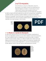 La Moneda en El Virreinato