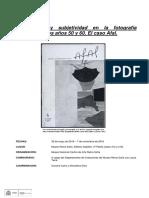 Humanismo y subjetividad en la fotografía española de los años 50 y 60. El caso Afal.