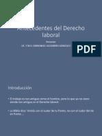 Antecedentes Historicos Del Derecho Laboral