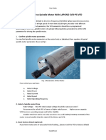 Guide to Drive Spindle Motor With LAPOND SVD-PS VFD