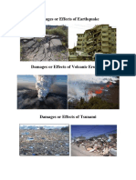 Damages or Effects of Earthquake