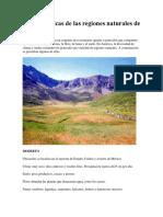 Caracteristicas de Las Regiones Naturales